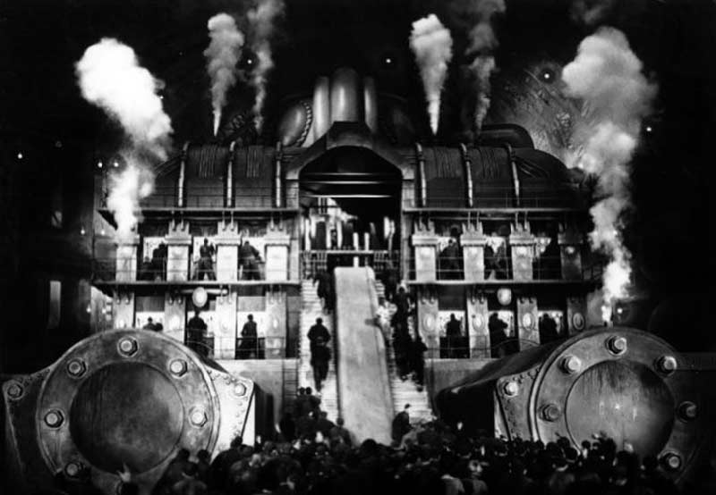 fabrica metrópolis, metrópolis Fritz lang, trabajadores metrópolis, metrópolis película, metrópolis H. G. Wells, cómo marcha el mundo