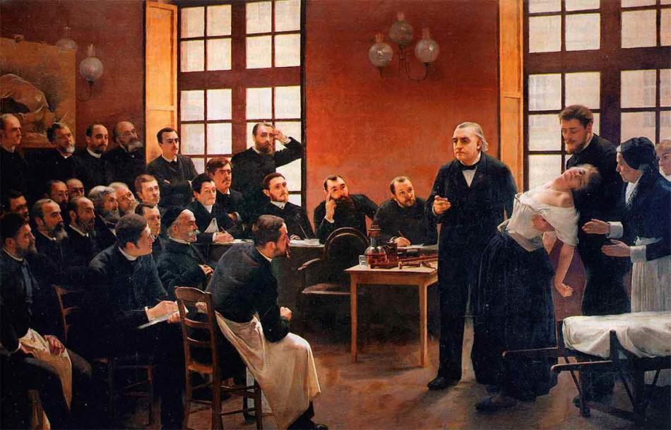 Cine, pintura, Pierre Andre Brouillet, Charcot, neurología, la muerte de Luis XIV